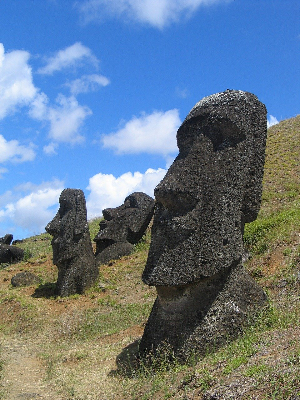 easter island, head, mystical