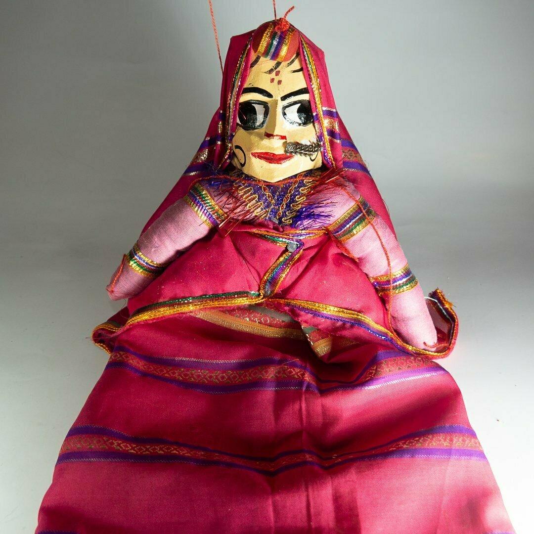 Títere Kathputli de la India (femenina)